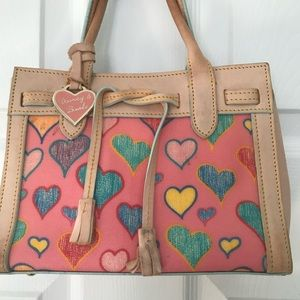 Dooney and Bourke Heart Bag and Wallet